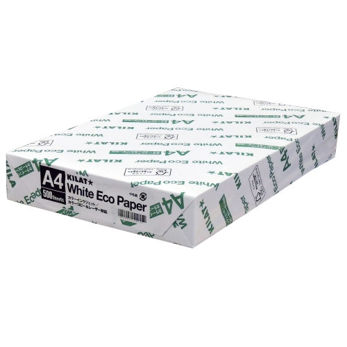コピー用紙 ホワイトエコペーパー 高白色 A4 500枚