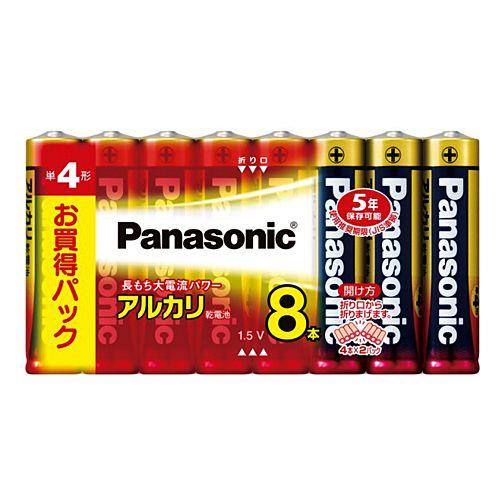 パナソニック アルカリ乾電池 単4形 8本 LR03XJ/8SW