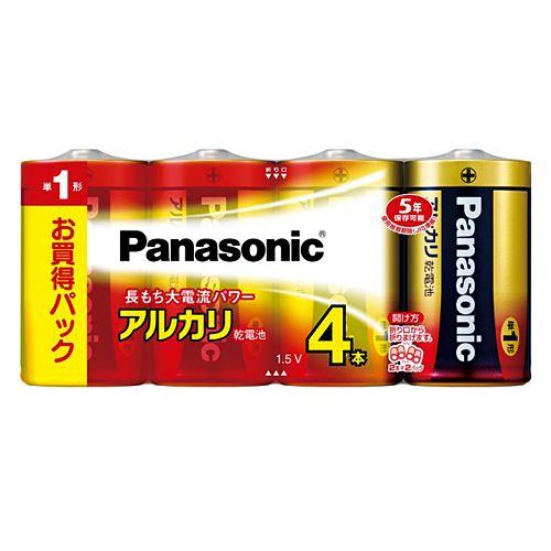 パナソニック アルカリ乾電池 単1形 4本 LR20XJ/4SW