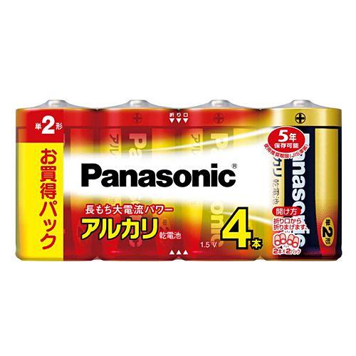パナソニック アルカリ乾電池 単2形 4本 LR14XJ/4SW