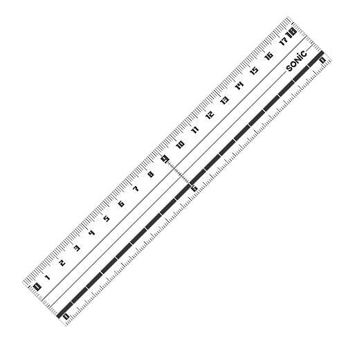 ソニック 直線定規 18cm SN-032N