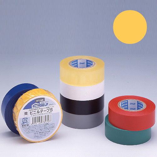 ニトムズ ビニールテープS 19×10mm 黄