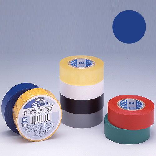 ニトムズ ビニールテープS 19×10mm 青