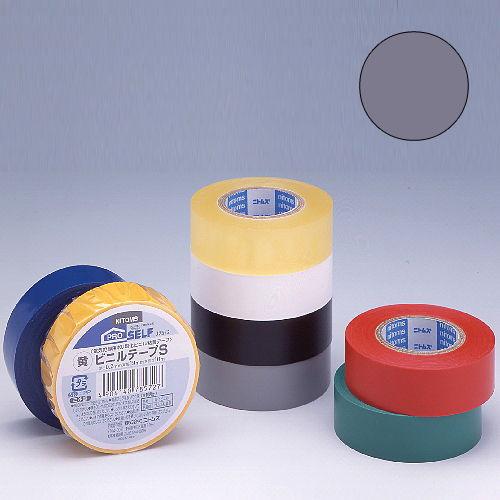 ニトムズ ビニールテープS 19×10mm 灰
