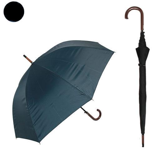 紳士無地傘 70cm ブラック