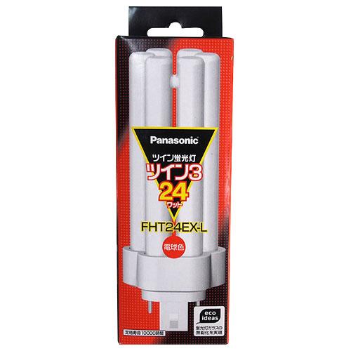 パナソニック コンパクト形蛍光灯 ツイン蛍光灯 6本束状ブリッジ FHT 24W形 電球色 FHT24EXL