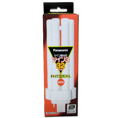 パナソニック コンパクト形蛍光灯 ツイン蛍光灯 3波長形 FHT 32W形 電球色 FHT32EX-L