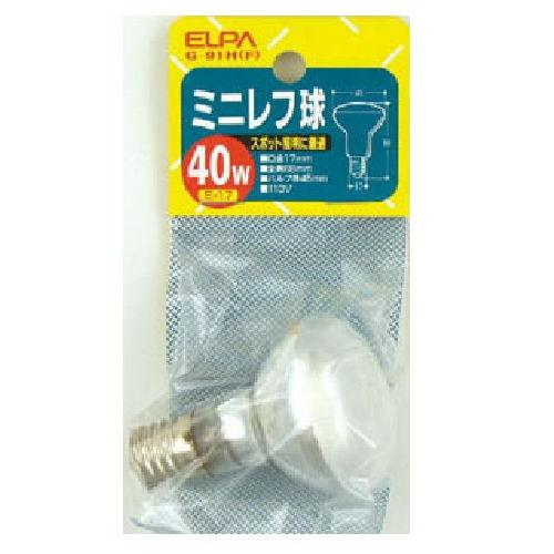 朝日電器 白熱電球 ミニレフ球 フロスト 40W形 E17口金 G-91H(F)