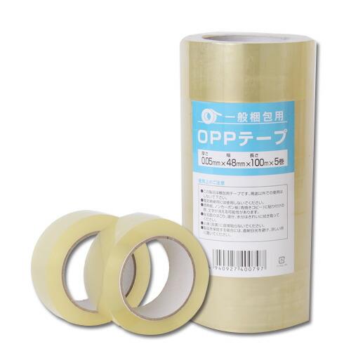 OPPテープ GRATES 厚さ0.05mm 48mm×100m 透明 5巻