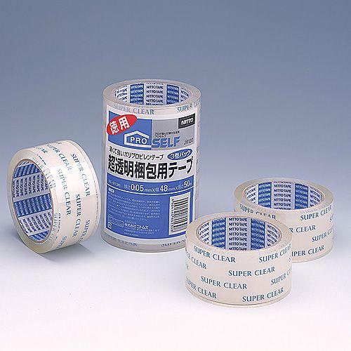 ニトムズ 超透明梱包用テープ 3巻パック SC-01