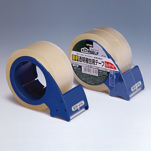ニトムズ 厚手透明梱包用テープ カッター付 PK-3900CT