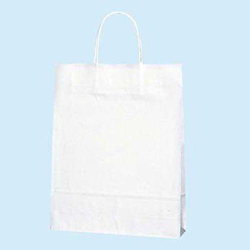 手提紙袋 白無地紙袋 270×340×80 白無地 50枚 3276010