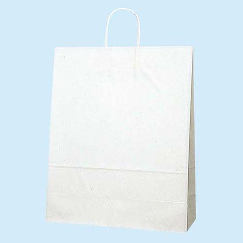 手提紙袋 白無地紙袋 380×500×150 白無地 50枚 003280410