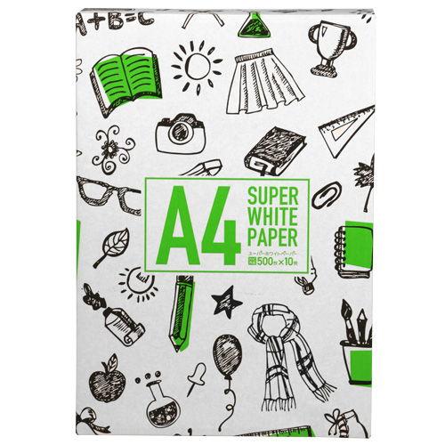 コピー用紙 スーパーホワイトペーパー 高白色 A4 500枚