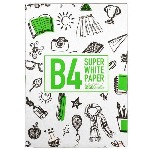 コピー用紙 スーパーホワイトペーパー 高白色 B4 500枚