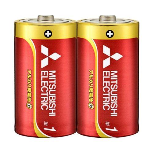 三菱電機 アルカリ乾電池 単1形 シュリンクパック 2本 LR20GH/2S