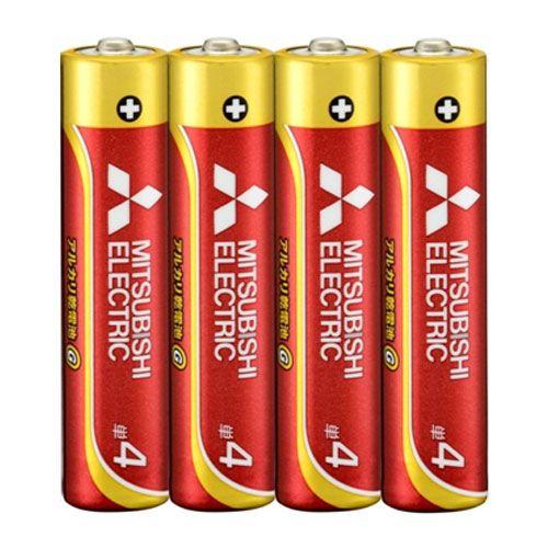 三菱電機 アルカリ乾電池 単4形 4本
