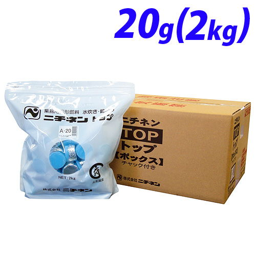 ニチネン 固形燃料トップボックスA 2kg(約100個)
