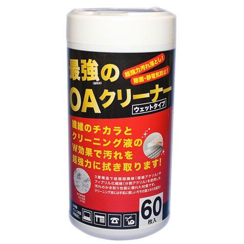 明晃化成工業 OAクリーナー 最強のクリーナー ウェットタイプ ボトル 60枚 KCL61-KB60