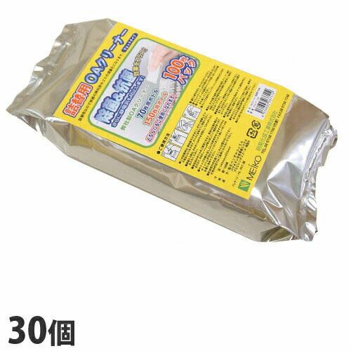 明晃化成工業 OAクリーナー ウェットティッシュ 詰替用 100枚 30個 MEIKO