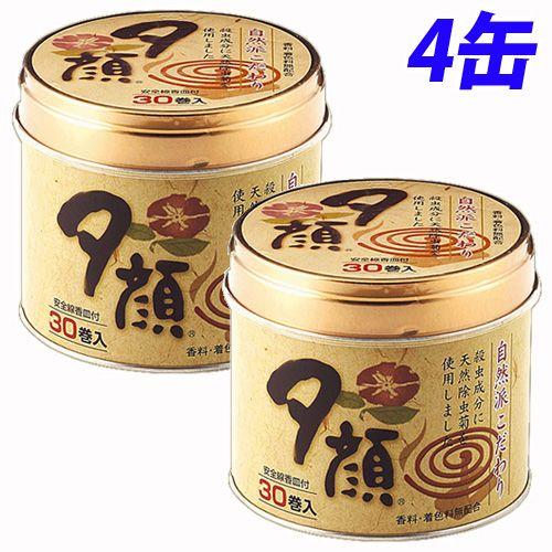 蚊取り線香 夕顔 30巻入 4缶 T-8505