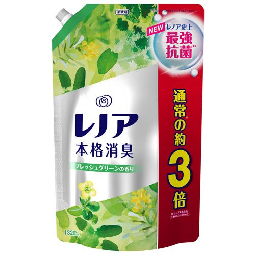 P&G 柔軟剤 レノア本格消臭 フレッシュグリーンの香り 詰替 超特大 1320ml