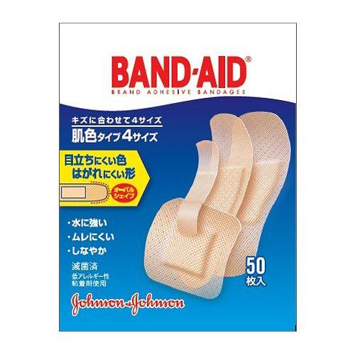 ジョンソン&ジョンソン 絆創膏(ばんそうこう) バンドエイド 肌色タイプ 4サイズ 50枚