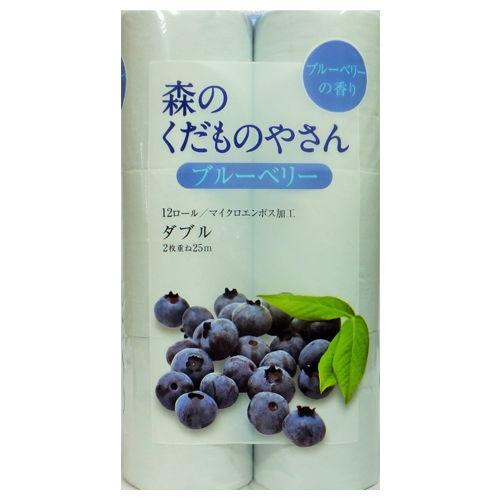 藤枝製紙 トイレットペーパー 森のくだものやさん 香り付き ブルーベリー ブルー 12ロール