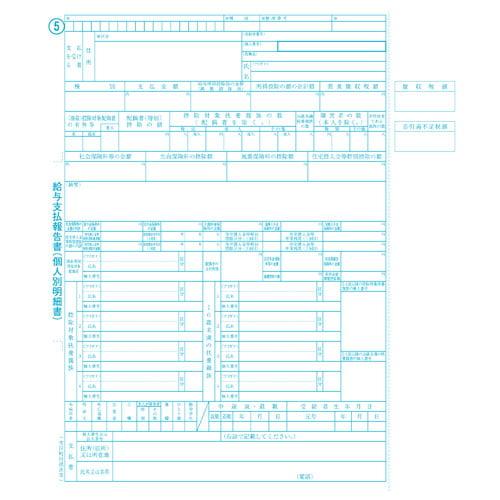 OBC オービック 源泉徴収票 令和2年対応 ドットプリンタ用 100セット 6009-A20
