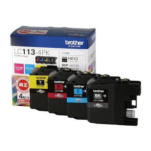 ブラザー 純正インク LC113-4PK LC113シリーズ 4色パック