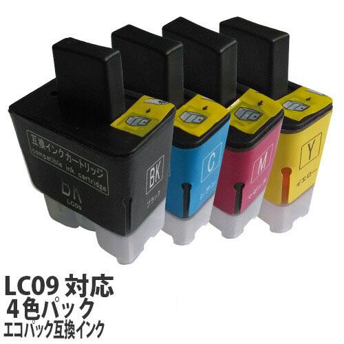 リサイクル互換インク エコパック LC09-4PK LC09シリーズ 対応インク 4色パック