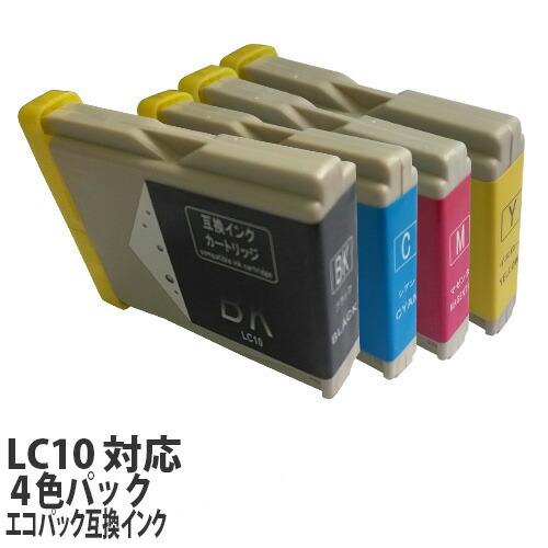 リサイクル互換インク エコパック LC10-4PK LC10シリーズ 対応インク 4色パック