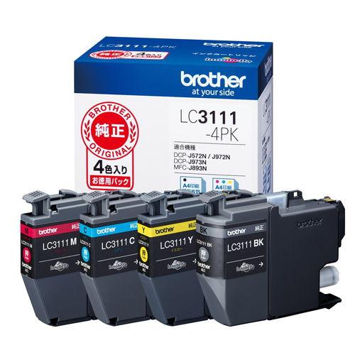 ブラザー 純正インク LC3111-4PK LC3111シリーズ 4色パック