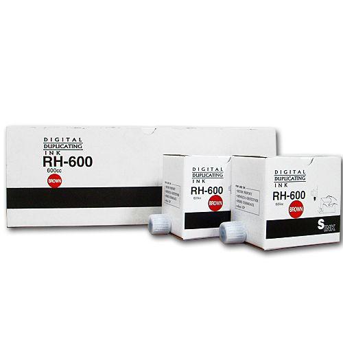 軽印刷機対応インク RH-600 茶 20本セット
