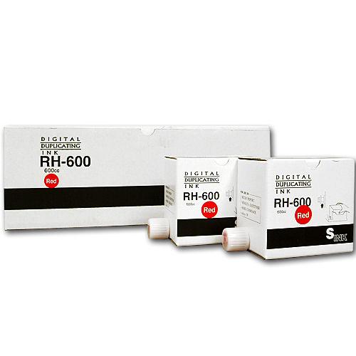 軽印刷機対応インク RH600 汎用品 赤 5本セット