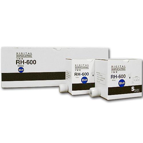 軽印刷機対応インク RH600 汎用品 青 5本セット