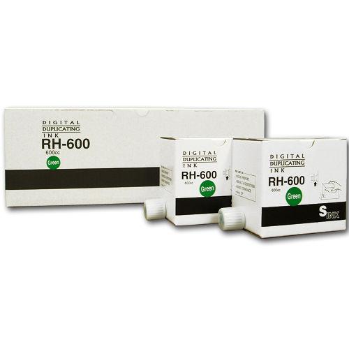 軽印刷機対応インク RH600 汎用品 緑 5本セット