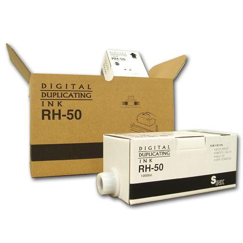 軽印刷機対応インク RH-50 汎用品 黒 6本セット