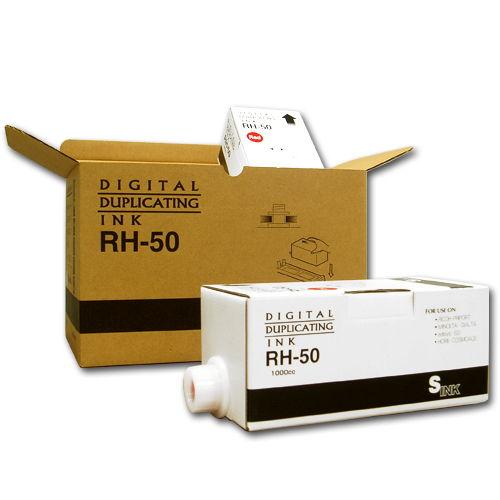 軽印刷機対応インク RH-50 汎用品 赤 6本セット