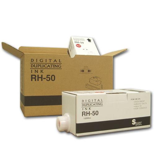 軽印刷機対応インク RH-50 汎用品 青 6本セット