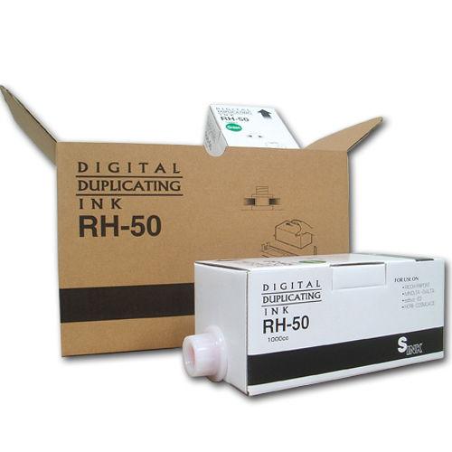 軽印刷機対応インク RH-50 汎用品 緑 6本セット