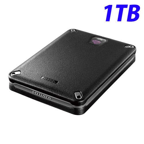 アイ・オー・データ HDD 耐衝撃ポータブルハードディスクドライブ ハードウェア暗号化&パスワードロック対応 USB3.0/2.0対応 1TB ブラック HDPD-SUTB1