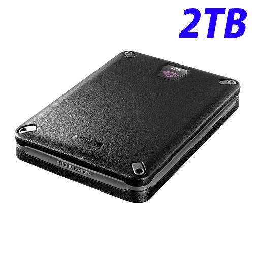 アイ・オー・データ HDD 耐衝撃ポータブルハードディスクドライブ USB 3.0対応 ハードウェア暗号化&パスワードロック対応 2TB USB3.0/2.0対応 HDPD-SUTB2