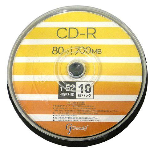 リーダーメディアテクノ CD-R ALL-WAYS 700MB 52倍速 ワイドプリンタブル スピンドルケース 10枚 ALCR52X10PW