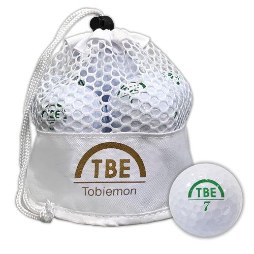 トビエモン 飛衛門 ゴルフボール メッシュバッグ入り R&A公認球 ホワイト 2ピース 1ダース(12個入り) TBM-2MBW