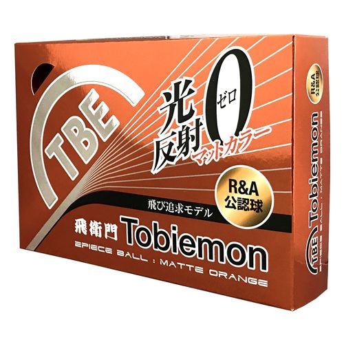 トビエモン 飛衛門 ゴルフボール 蛍光マットカラーボール R&A公認球 マットオレンジ 2ピース 1ダース(12個入り) T-B2MO