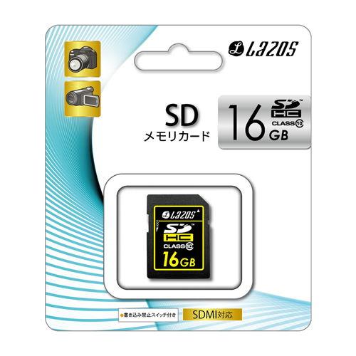 リーダーメディアテクノ SDカード LAZOS(ラソス) SDHCメモリーカード 16GB Class 10 (Premium) L-16SD10