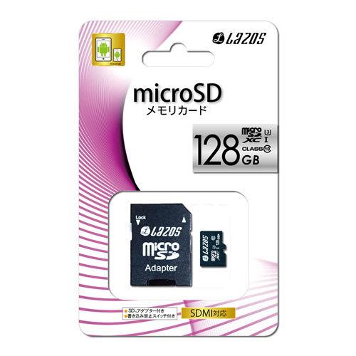 【売切れ御免】LMT Lazos microSDXCカード 128GB class10 UHS-3
