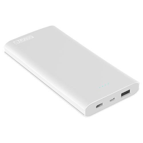 Lazos スマホ充電 モバイルバッテリー Type-C対応 高速充電リチウムポリマーモバイルバッテリー 10000mAh ホワイト L-M10C-W
