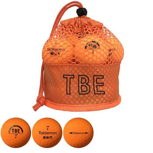 リーダーメディアテクノ ゴルフボール TOBIEMON 2ピース蛍光マット オレンジ 12球 T-2MO